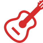 red-guitar-icon-h-200-w300